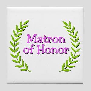 Matron of Honor (ferns) Tile Coaster