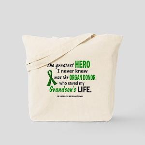 Hero I Never Knew 1 (Grandson) Tote Bag