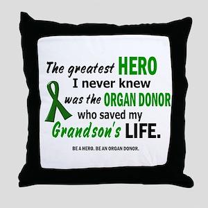 Hero I Never Knew 1 (Grandson) Throw Pillow