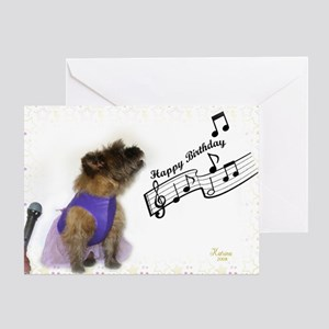 Cairn Terrier Birthday Greeting Card