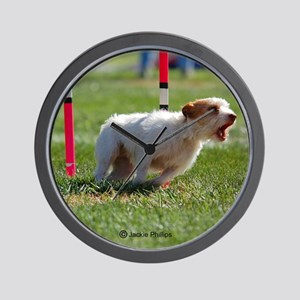Jack Russell Terrier in Agility Wall Clock