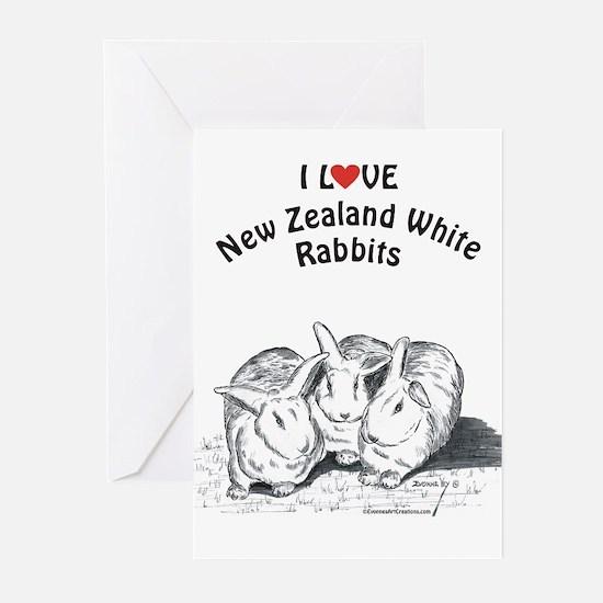 I Love NZW Rabbits Greeting Cards (Pk of 20)