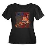 Phoenix Women's Plus Size Scoop Neck Dark T-Shirt