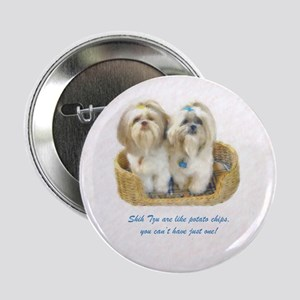 "Shih Tzu Pop Art Ziggy & Nemo 2.25"" Button (10 pac"