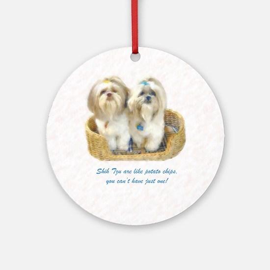 Shih Tzu Pop Art Ziggy & Nemo Ornament (Round)