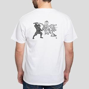 Ninja Pigs White T-Shirt