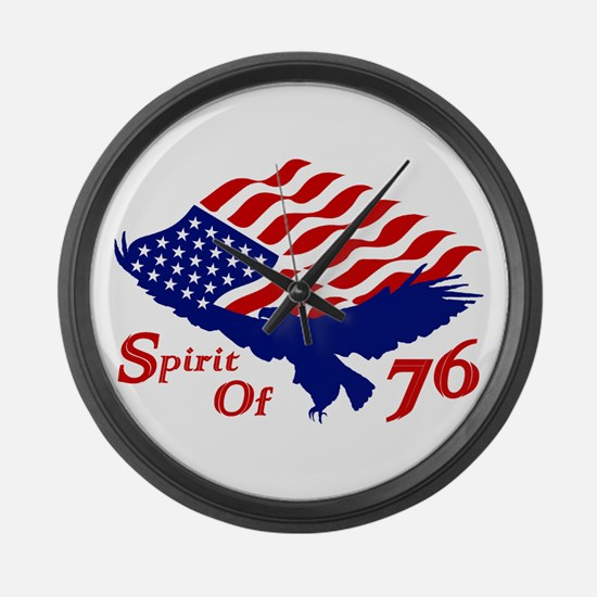 Spirit of 76! USA Patriotic Large Wall Clock