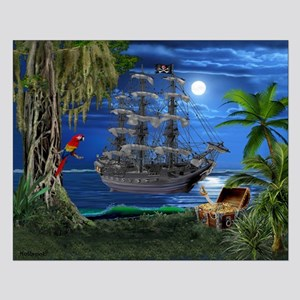 Mystical Moonlit Pirate Ship Posters