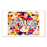 Enjoy Your Family Pills Rectangle Sticker