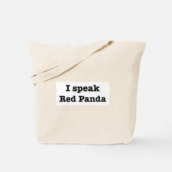 I speak Red Panda Tote Bag