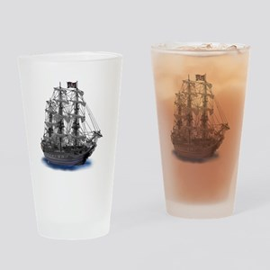 Mystical Moonlit Pirate Ship Drinking Glass