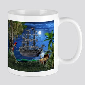 Mystical Moonlit Pirate Ship Mugs