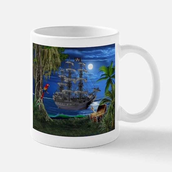 Mystical Moonlit Pirate Ship Mugs
