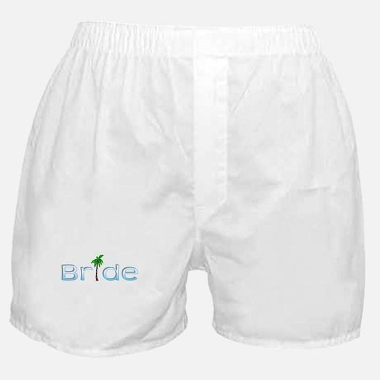 Bride (Palm, Baby Blue) Boxer Shorts