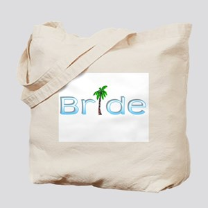 Bride (Palm, Baby Blue) Tote Bag