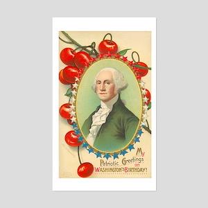 Washington's Birthday Rectangle Sticker