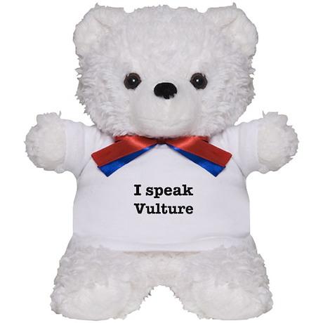 I speak Vulture Teddy Bear