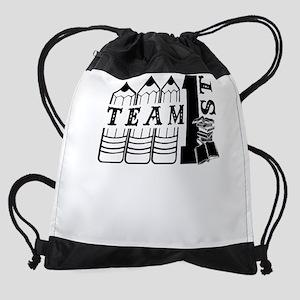 1st Grade Teacher Drawstring Bag