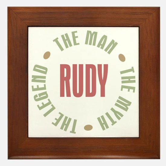 Rudy Man Myth Legend Framed Tile