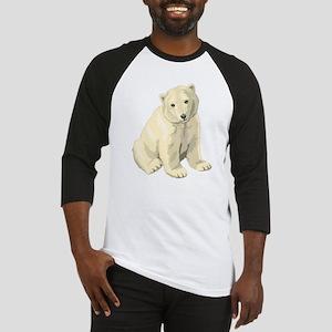 Cute White Polar Bear Baseball Jersey