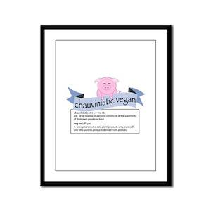 Chauvinistic Vegan Female Pig Framed Panel Print