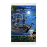 Pirate ship 3x5 Rugs