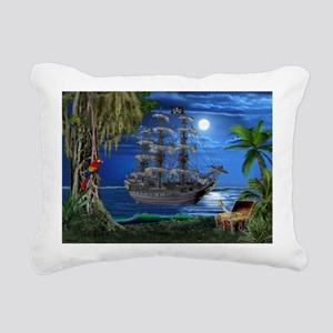 Mystical Moonlit Pirate Ship Rectangular Canvas Pi