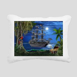 Mystical Moonlit Pirate Ship Rectangular Canvas Pi