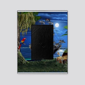 Mystical Moonlit Pirate Ship Picture Frame