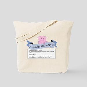 Chauvinistic Vegan Female Pig Tote Bag
