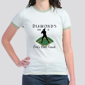 Diamonds - Girl's Best Friend Jr. Ringer T-Shirt