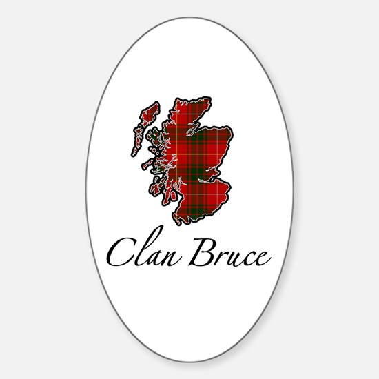 Clan Bruce Map - Oval Decal
