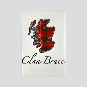 Clan Bruce Map - Rectangle Magnet