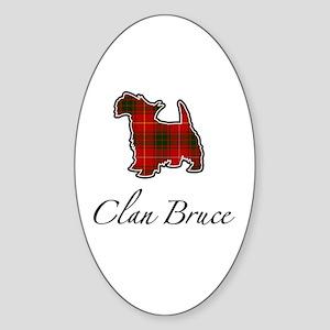 Bruce - Scotty Dog - Oval Sticker