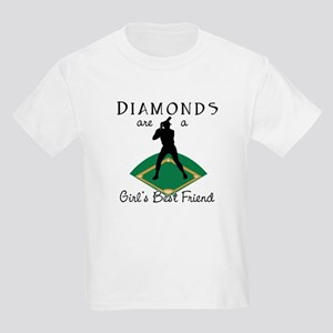 Diamonds - Girl's Best Friend Kids Light T-Shirt