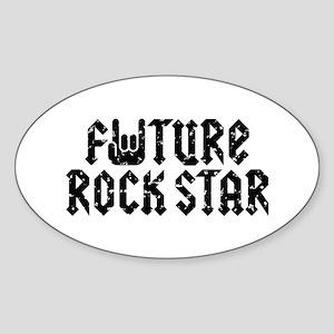 Future Rock Star Oval Sticker
