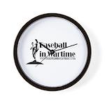 Baseball in Wartime Wall Clock