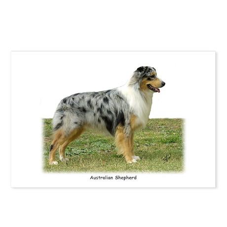 Australian Shepherd 9K7D-20 Postcards (Package of