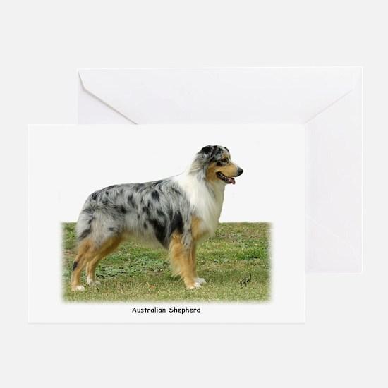 Australian Shepherd 9K7D-20 Greeting Card