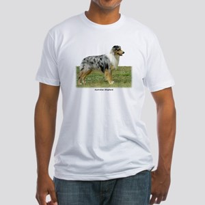 Australian Shepherd 9K7D-20 Fitted T-Shirt