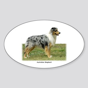 Australian Shepherd 9K7D-20 Sticker (Oval)