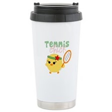 Tennis Chick Stainless Steel Travel Mug