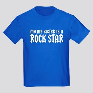 My Big Sister is a Rock Star Kids Dark T-Shirt