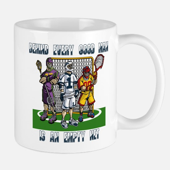 Lacrosse Players Empty Net Mug