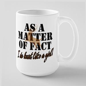 Hunt Like A Girl Large Mug