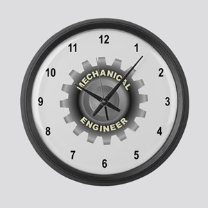 Mechanical Engineering Large Wall Clock