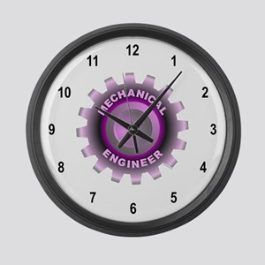 Pink Mechanical Engineer Large Wall Clock