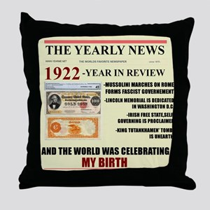born in 1922 birthday gift Throw Pillow
