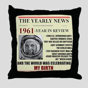 born in 1961 birthday gift Throw Pillow