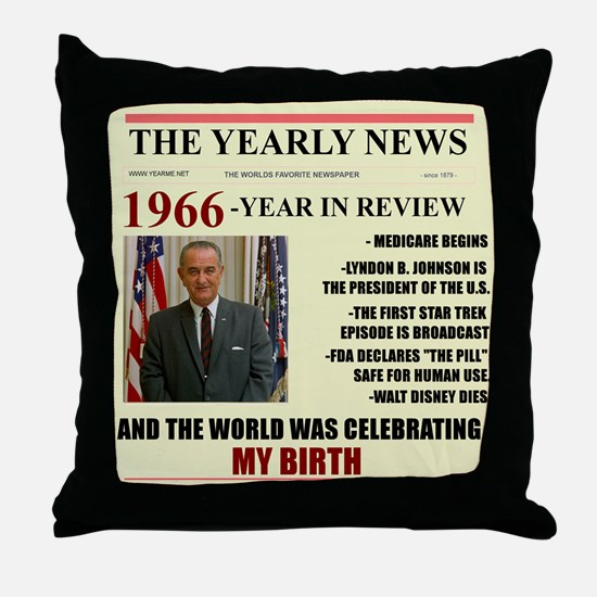 born in 1966 birthday gift Throw Pillow
